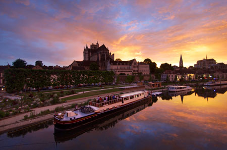 Sunset in Auxerre