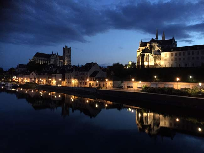 Dusk in Auxerre
