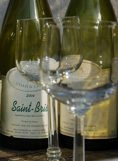 French sauvigion wine St Bris
