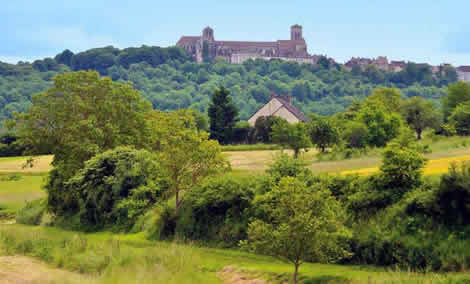 Vezelay on top of hill