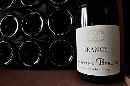 French Irancy wine bottle