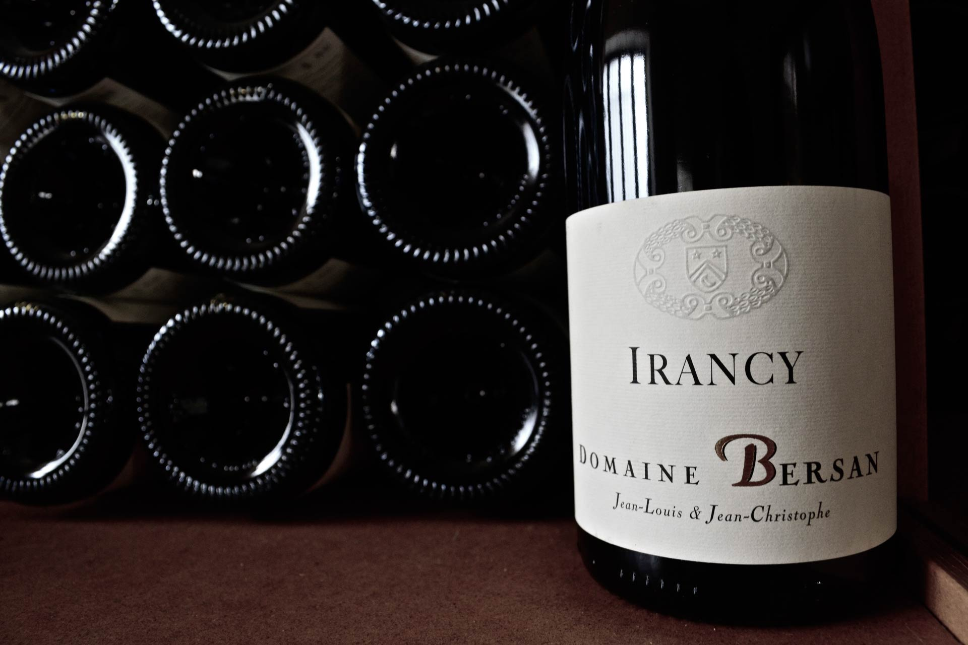 Irancy red wine bottles
